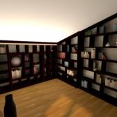libreria per mansarda