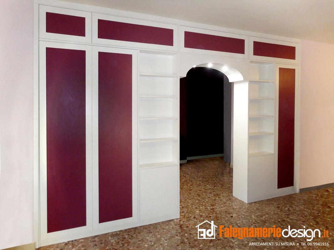 Mobile divisorio bifacciale legno rosso arredamenti e - Mobili bifacciali ...