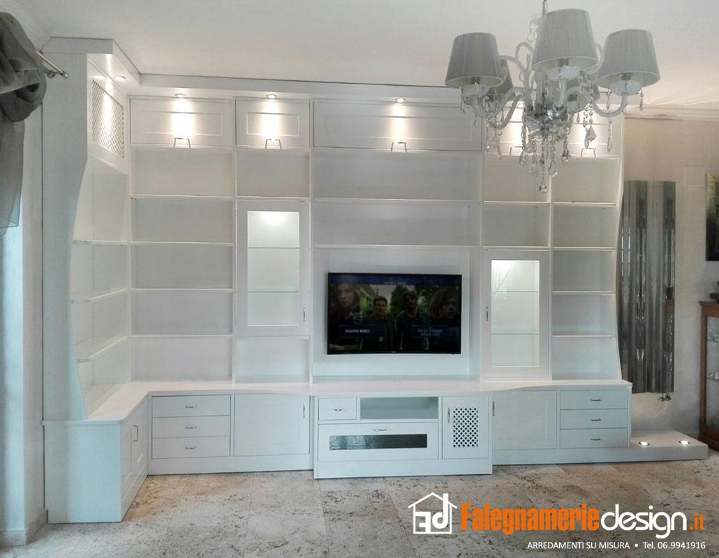mobile per soggiorno in legno - Arredamenti e Mobili su misura roma