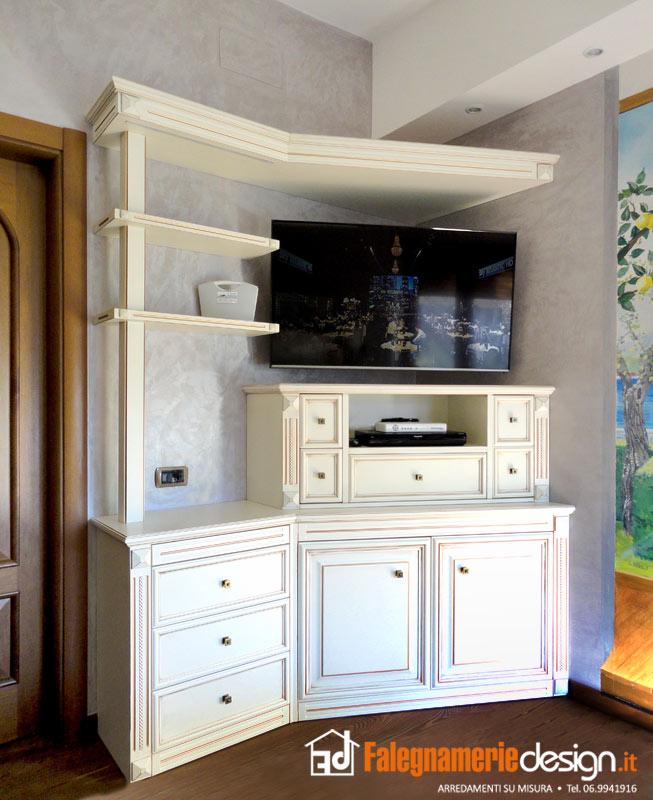 Camere da letto roma tutto in vero legno su misura - Mobile tv camera da letto ...