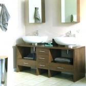 mobile bagno con ripiani sottostanti