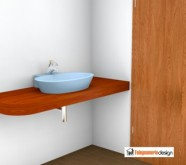 ripiano in legno bagno