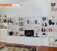 parete attrezzata classico moderno in legno