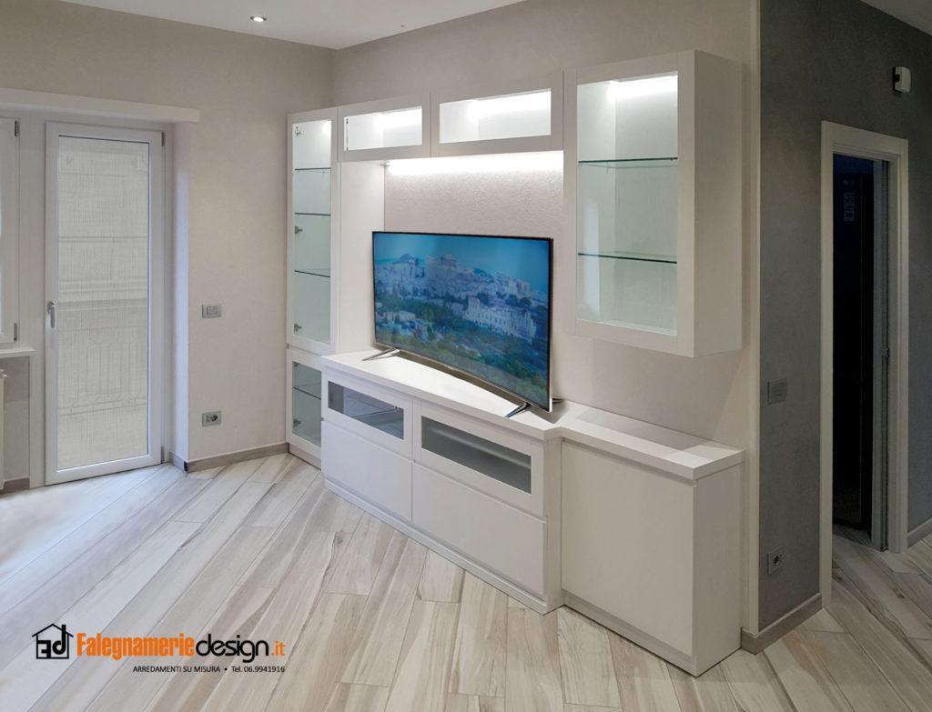 Parete attrezzata in muratura free top pareti attrezzate rustiche soggiorno classico mobili ql - Parete attrezzata fai da te ...