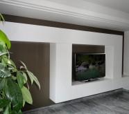 parete attrezzata moderna in legno