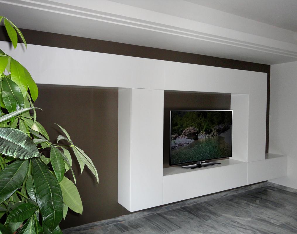 Pareti attrezzate su misura roma falegnamerie design - Parete di legno ...