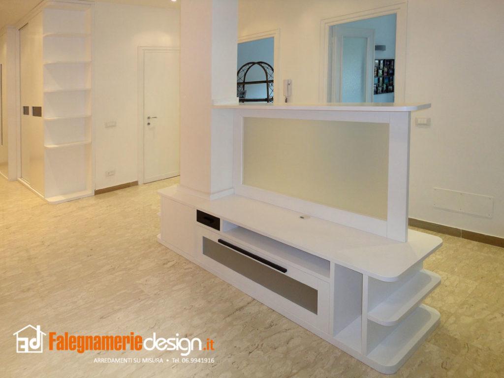 pareti attrezzate su misura roma - falegnamerie design - Mobili Tv Su Misura