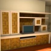 progetto 3d mobili parete attrezzata