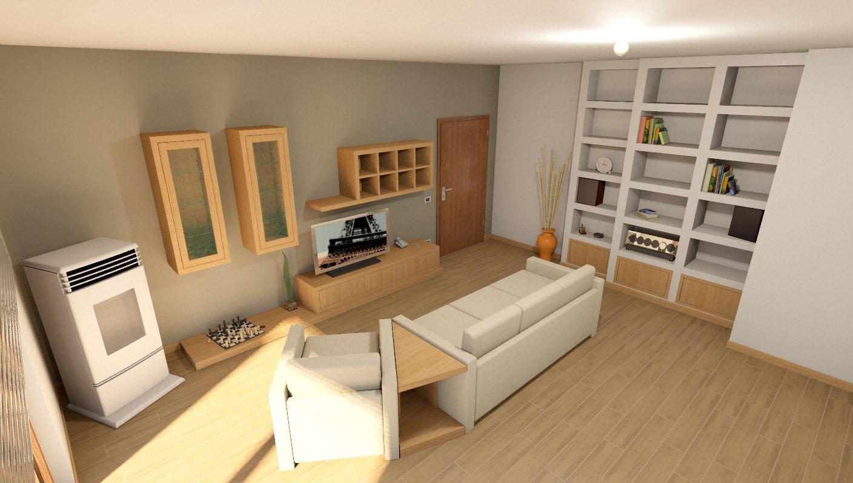 foto pareti attrezzate su misura falegnamerie design