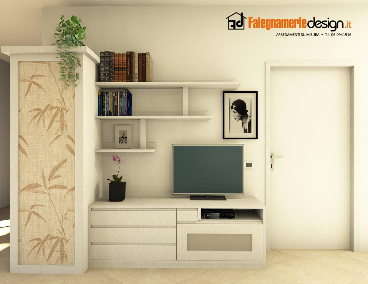piccola parete attrezzata arredamenti e mobili su misura
