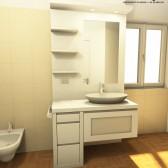 piccolo mobile in legno per bagno