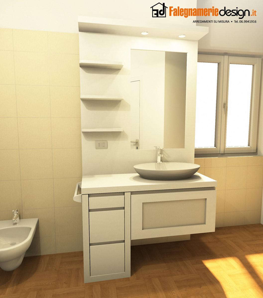 Piccolo mobile in legno per bagno arredamenti e mobili - Mobili per bagno piccolo ...