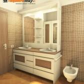 progetto 3d mobile bagno