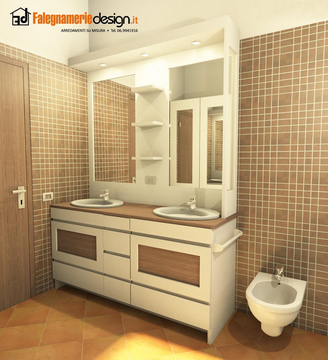 Progetto 3d mobile bagno arredamenti e mobili su misura roma - Progetto bagno 3d gratis ...