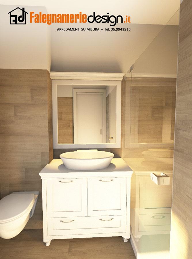 Armadio bagno fabulous orz sotto blocco ripiano cucina - Cucina legno bianco decapato ...
