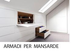 armadi per mansarde roma - Arredamenti e Mobili su misura roma