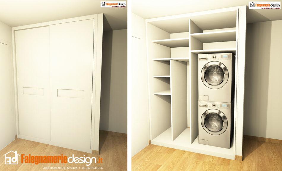 Ripostiglio a muro lavatrice arredamenti e mobili su - Mobili a muro su misura ...