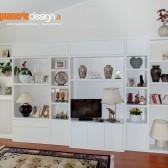 soggiorno classico moderno in legno