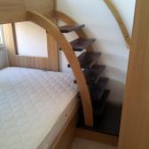 letto soppalcato in legno su misura