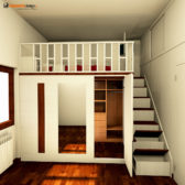 soppalco con cabina armadio
