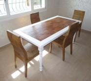 tavolo su misura in bambu