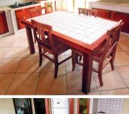 tavolo sdoppiabile con maiolica