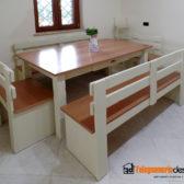 tavolo con panca in legno