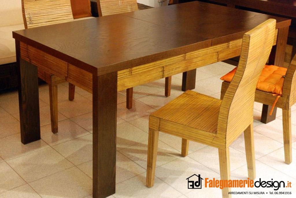 Tavoli in legno progettazione e realizzazione su misura for Tavoli rustici allungabili