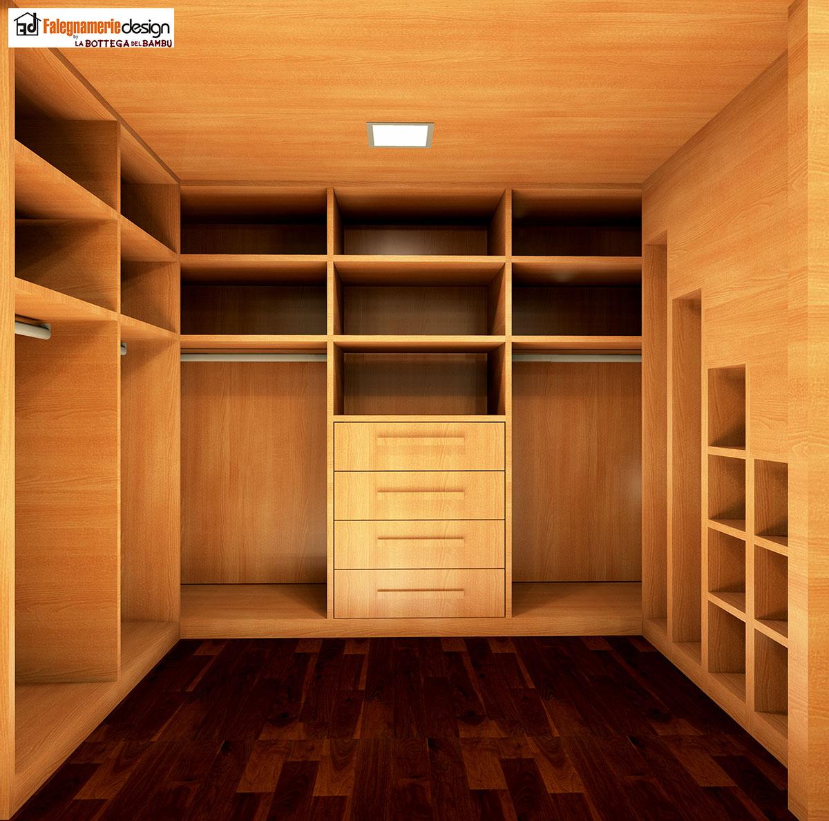 Vista interno cabina armadio soppalco arredamenti e - Armadio interno ...