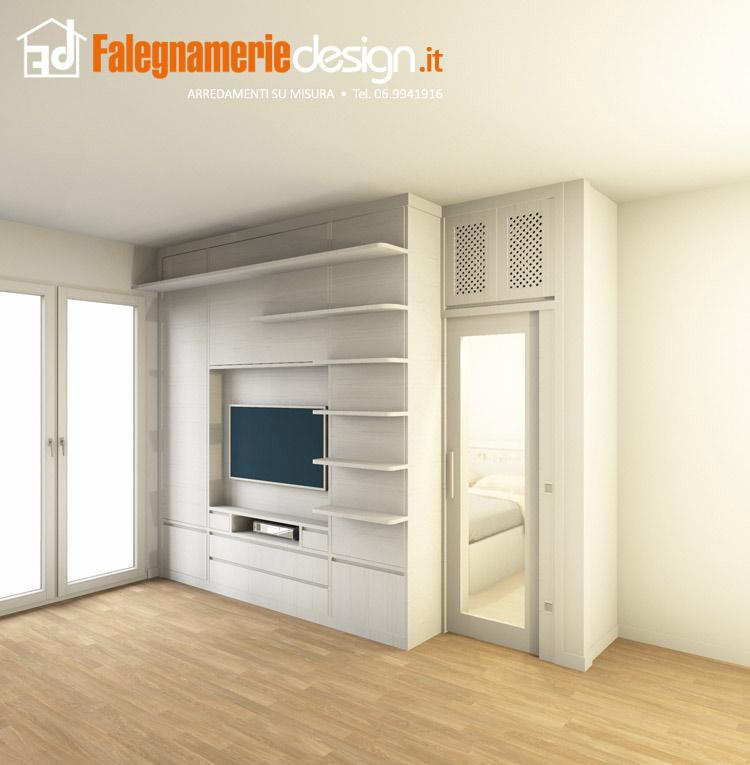 Zona tv attrezzata arredamenti e mobili su misura roma for Falegnamerie design