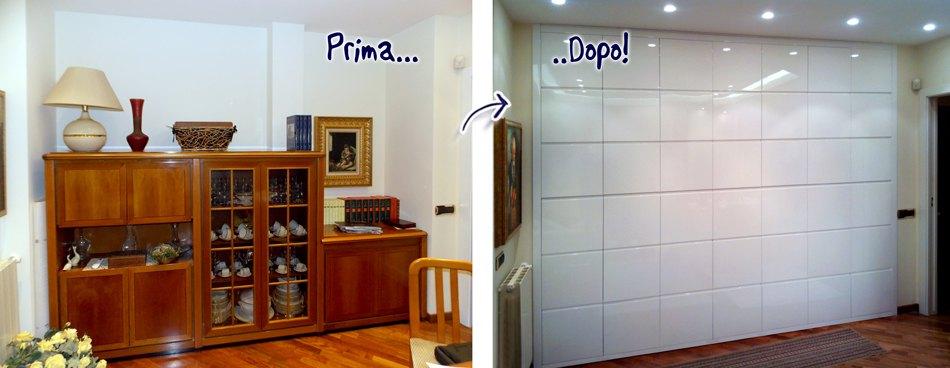 Trasformare una stanza con mobili su misura falegnamerie for Armadio guardaroba da soggiorno