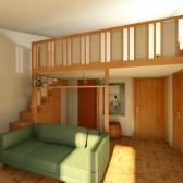 piccolo appartamento con soppalco su misura
