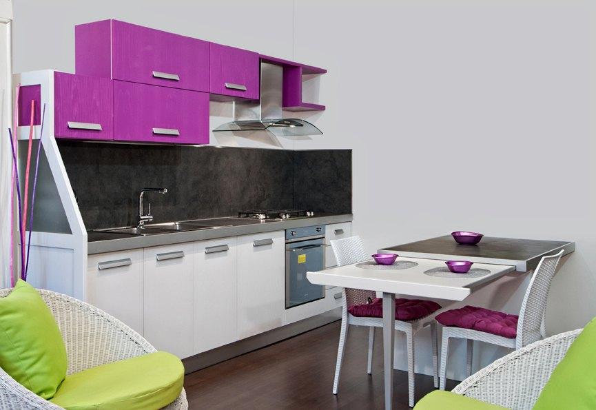 Cucine Moderne Lineare : Cucina Lineare Su Misura In Legno Massello ...