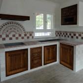 cucina cartongesso e legno