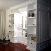 libreria legno bianco