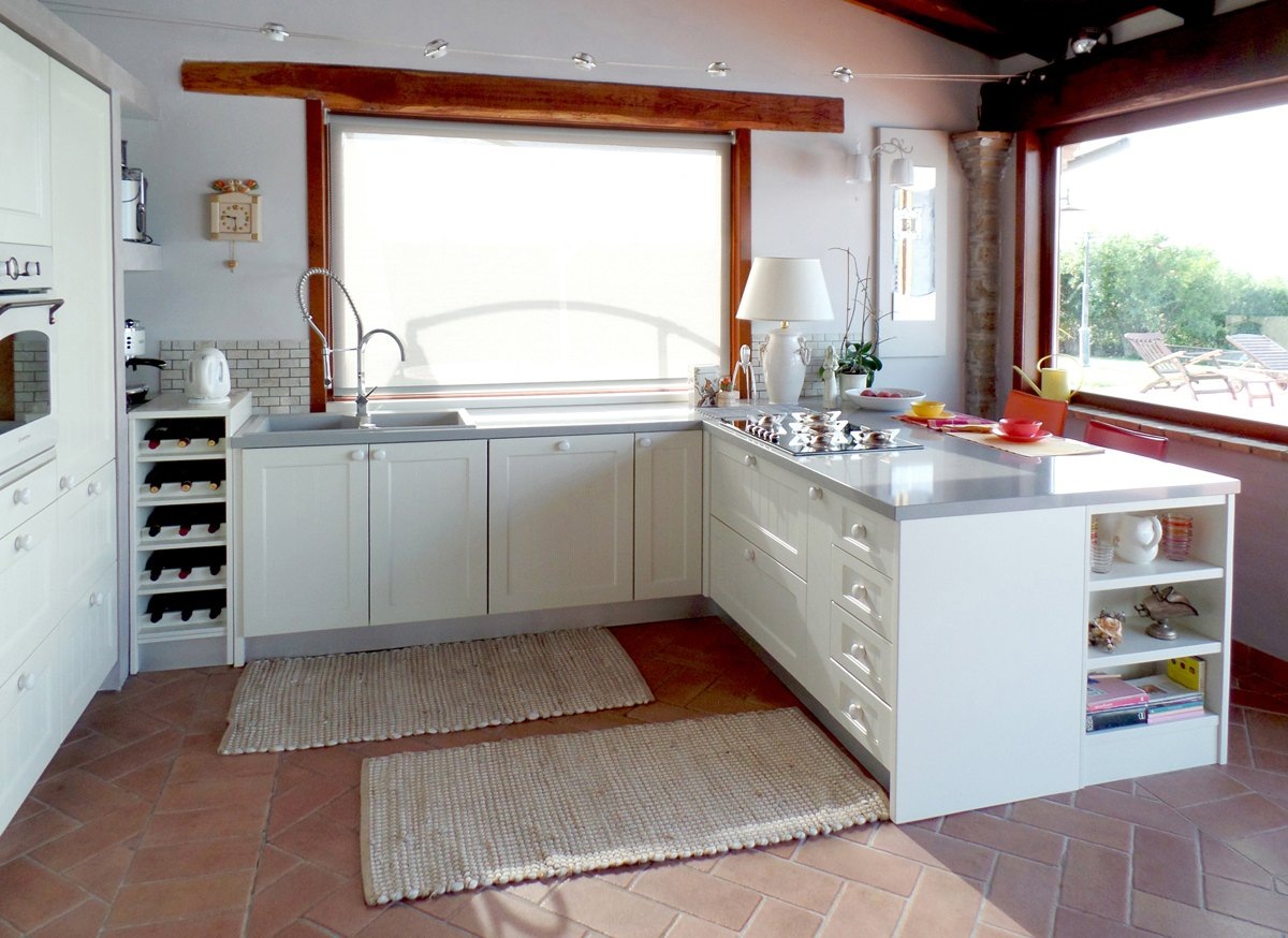 ... . Cucine moderne legno naturale. Cucine moderne legno e acciaio