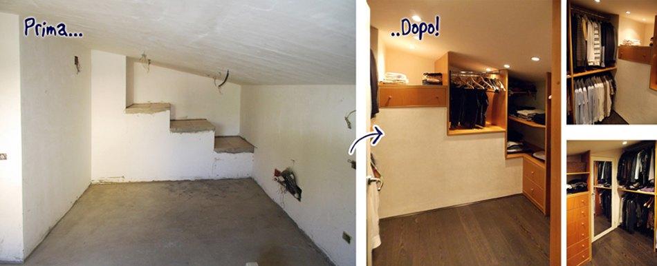 Trasformare una stanza con mobili su misura falegnamerie design - Camera da letto sottotetto ...