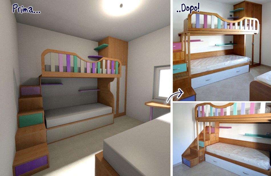 Trasformare una stanza con mobili su misura falegnamerie design - Camere da letto con soppalco ...