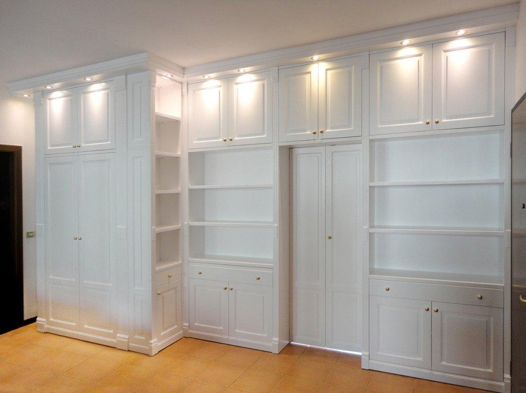 armadi librerie divisorie in legno su misura roma