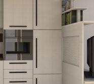 divisorio con porta tv zona cucina