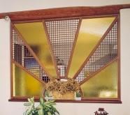 pareti divisorie vetro legno
