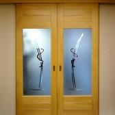 porta in legno su misura con vetro