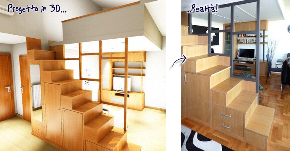 Soppalchi in legno su misura roma nuovi spazi in casa for Registrare i piani di casa con soppalco