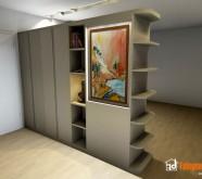 armadio bifacciale soggiorno