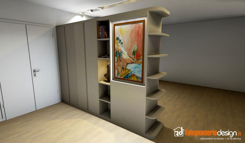 Librerie bifacciali su misura costruite in vero legno - Armadi da soggiorno ...