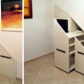 armadio per la mansarda in legno