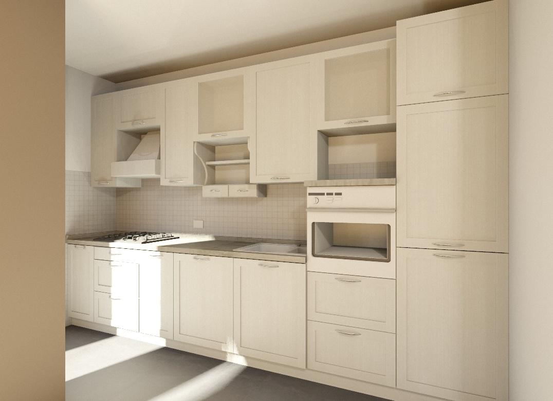 Cucine moderne Roma, in legno su misura.