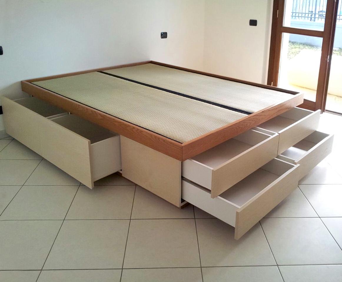 Letti alti con contenitore design casa creativa e mobili - Letto con contenitore ...