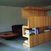 libreria bifacciale divisoria in legno