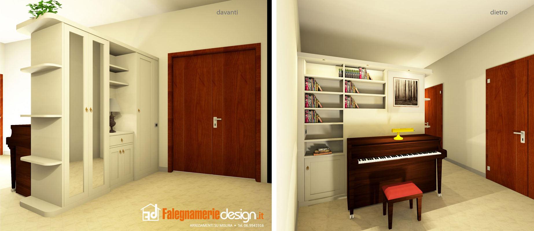 libreria bifacciale per soggiorno - Arredamenti e Mobili su misura ...